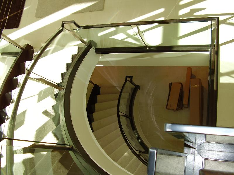 Curved Stairs Glass Panels Gallery Roes Stair Corp