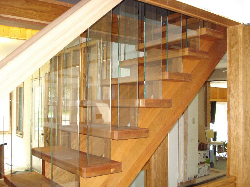 Straight Stairs Glass Panels Gallery Roes Stair Corp