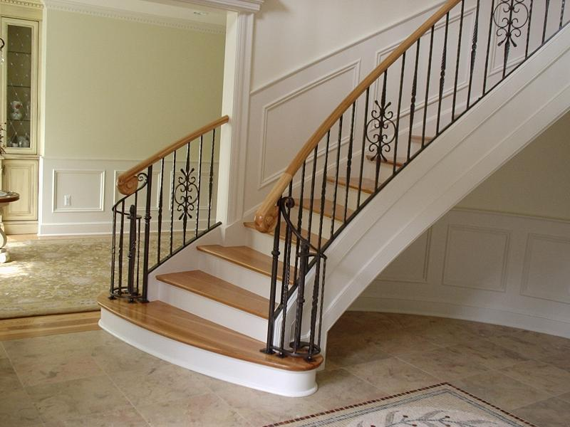 Curved Stairs Metal Pickets Gallery Roes Stair Company