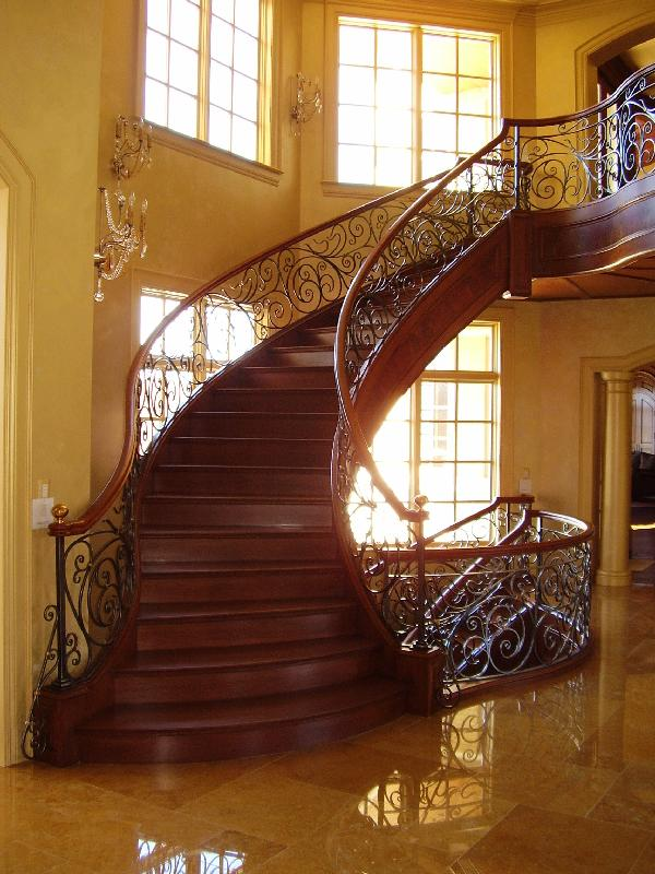 Curved Stairs Metal Pickets Gallery Roes Stair Corp