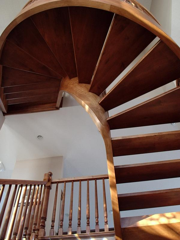 Curved Stairs Wood Pickets Gallery Roes Stair Corp